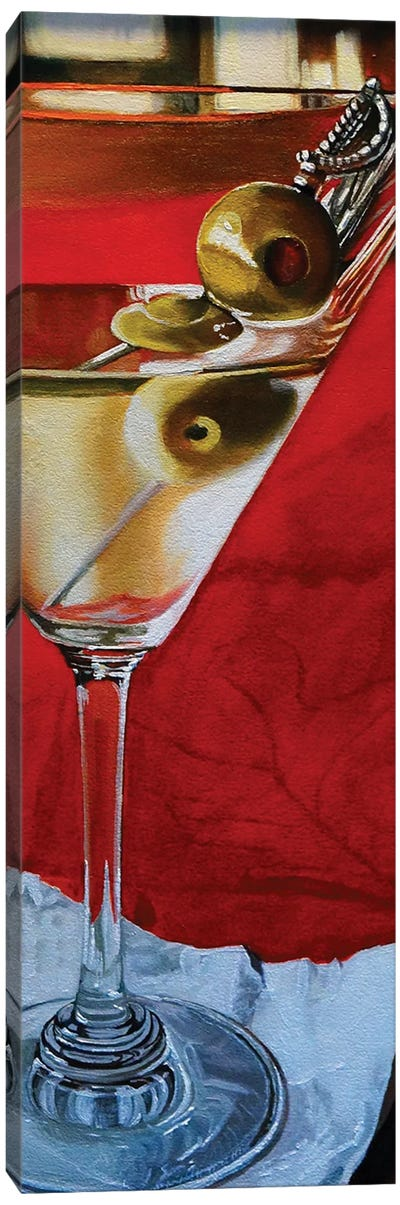Martini With Olives Canvas Art Print
