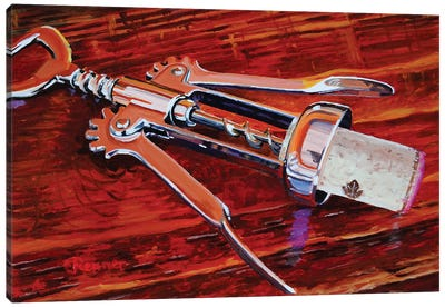 Silver Corkscrew Canvas Art Print