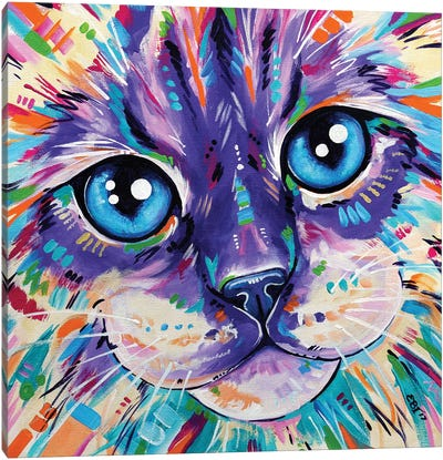 Cats In Colour I Canvas Art Print