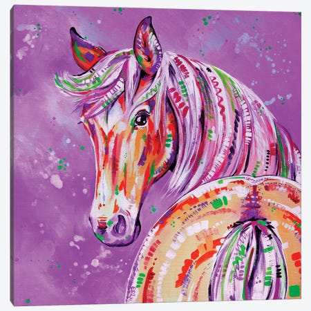 Cinnamon In Pink Canvas Print #EIZ14} by Eve Izzett Art Print
