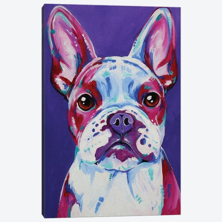 Frenchy In Purple Canvas Print #EIZ18} by Eve Izzett Canvas Art