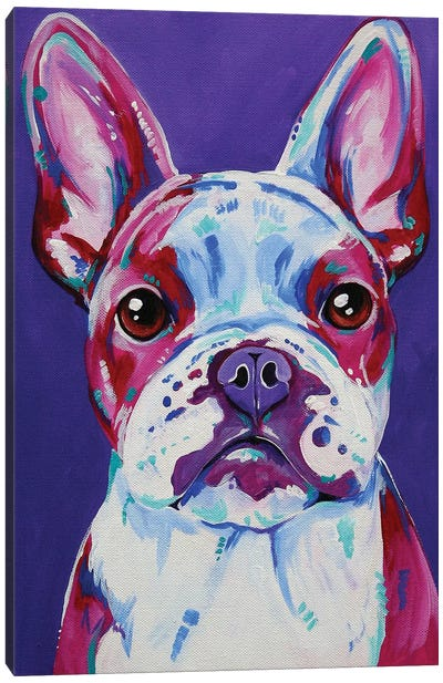 Frenchy In Purple Canvas Art Print