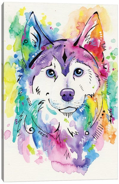 Happy Canvas Art Print