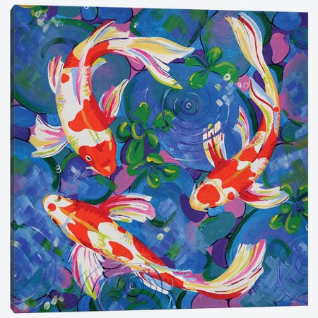 Koi Canvas Print #EIZ24} by Eve Izzett Canvas Art