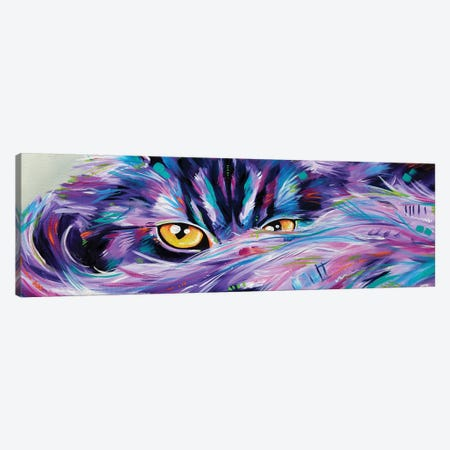 Let Sleeping Cat's Lie Canvas Print #EIZ25} by Eve Izzett Canvas Art