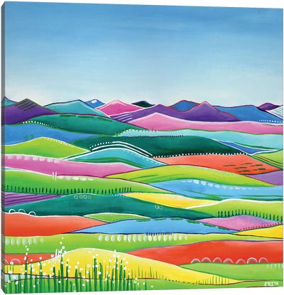 Pastel Hills Canvas Art Print