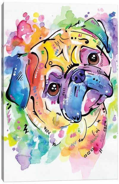 Pugsly Canvas Art Print