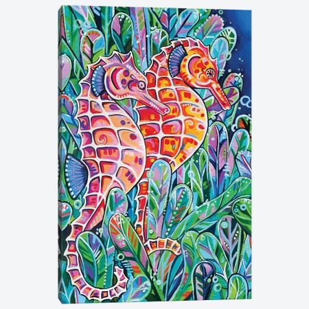 Seahorses Canvas Print #EIZ36} by Eve Izzett Art Print