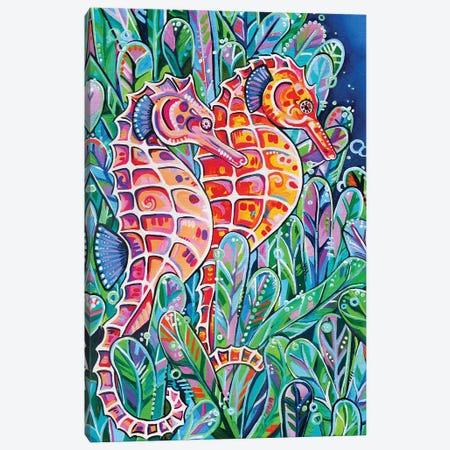 Seahorses Canvas Print #EIZ36} by Eve Izzett Art Print