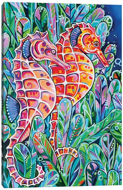 Seahorses Canvas Art Print