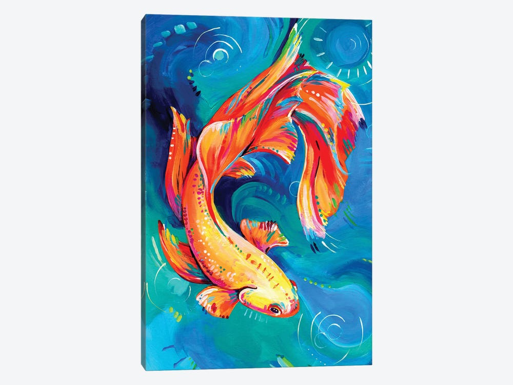 Siamese Fighting Fish by Eve Izzett 1-piece Canvas Wall Art