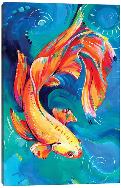 Siamese Fighting Fish Canvas Art Print