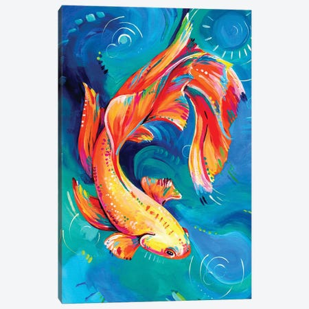 Siamese Fighting Fish Canvas Print #EIZ39} by Eve Izzett Canvas Artwork
