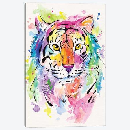 Tiger, Tiger Canvas Print #EIZ47} by Eve Izzett Canvas Wall Art