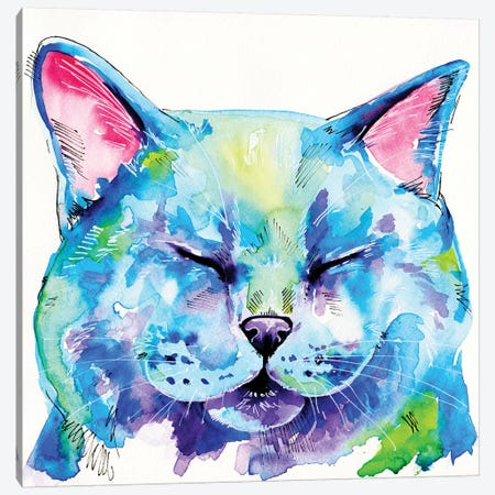 Fat Cat Canvas Print #EIZ51} by Eve Izzett Canvas Art