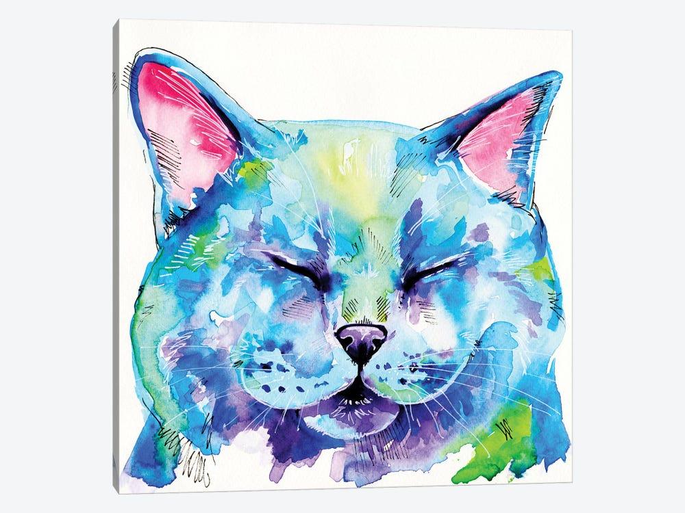 Fat Cat by Eve Izzett 1-piece Canvas Artwork