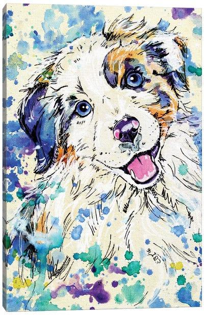 Aussie Pup Canvas Art Print