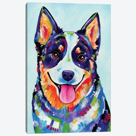 Australian Cattle Dog Canvas Print #EIZ55} by Eve Izzett Canvas Art Print
