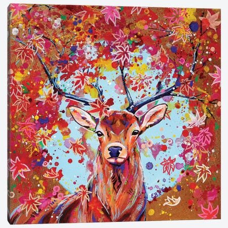 Autumn Herald Canvas Print #EIZ6} by Eve Izzett Canvas Wall Art
