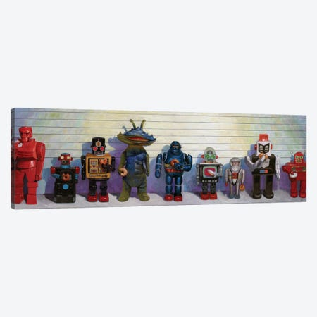 Line-Up Canvas Print #EJR10} by Eric Joyner Canvas Artwork