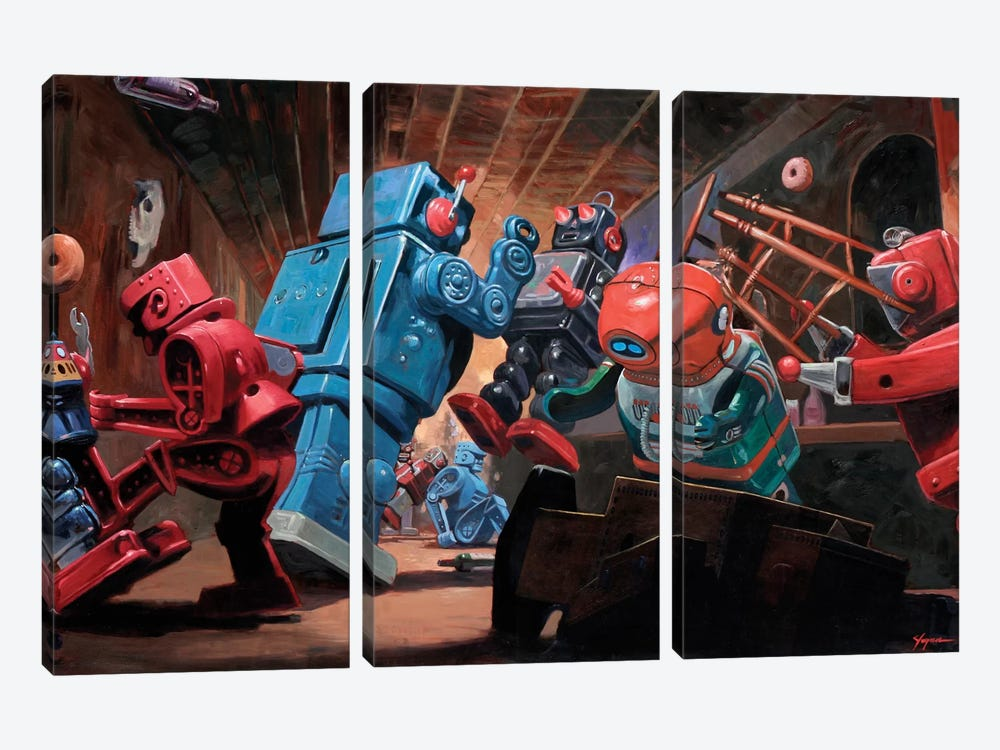 Malfunction Mute by Eric Joyner 3-piece Canvas Art Print