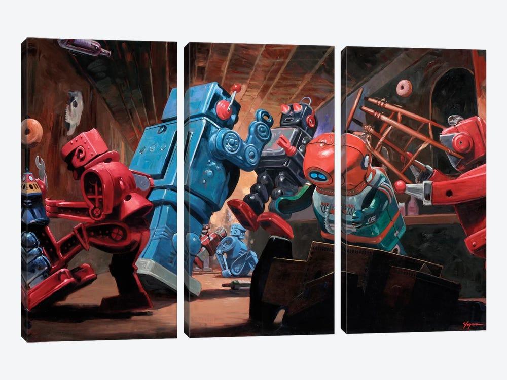 Malfunction Mute by Eric Joyner 3-piece Canvas Art Print