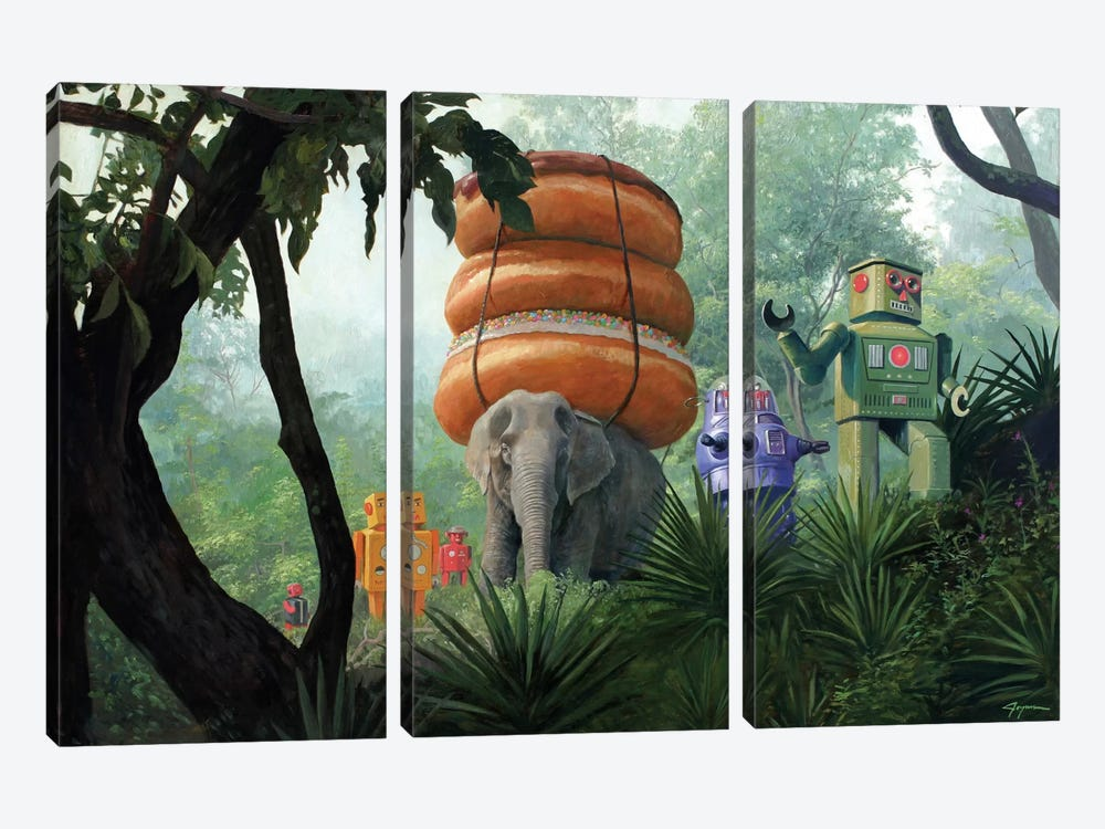 On Tiger Mountain by Eric Joyner 3-piece Canvas Wall Art