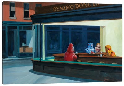 Robo Hawks Canvas Art Print