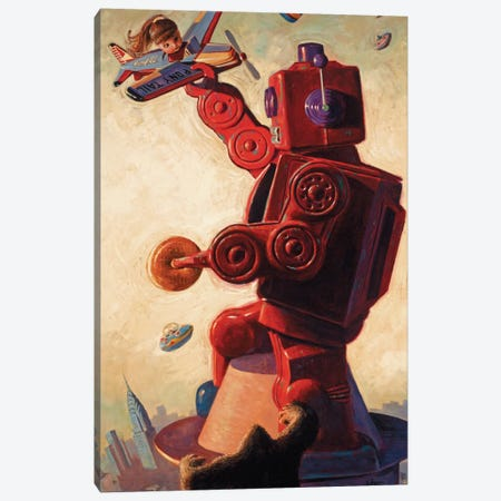 Robo Kong Canvas Print #EJR17} by Eric Joyner Canvas Print
