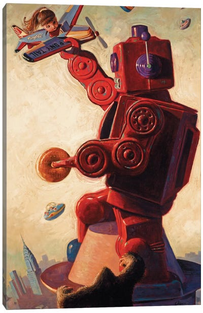 Robo Kong Canvas Art Print