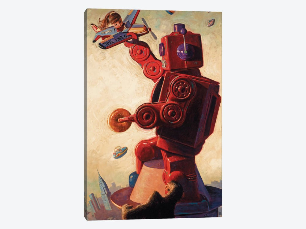 Robo Kong by Eric Joyner 1-piece Canvas Art Print