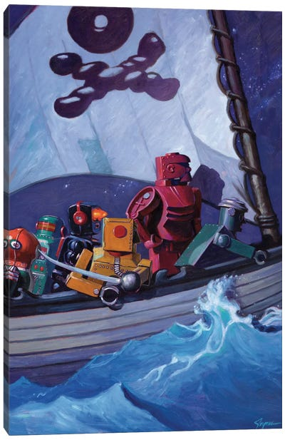 Robo Pirates Canvas Print #EJR18