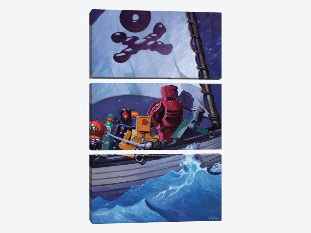 Robo Pirates by Eric Joyner 3-piece Canvas Artwork