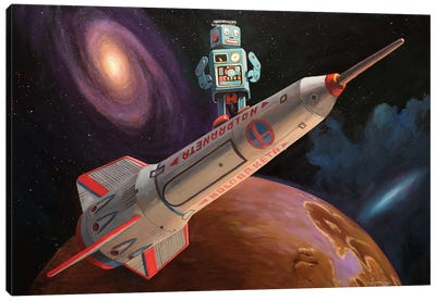 Rocket Surfer Canvas Print #EJR19