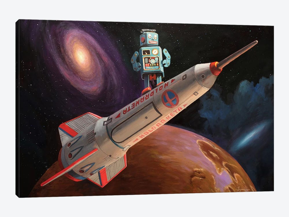 Rocket Surfer by Eric Joyner 1-piece Canvas Art Print