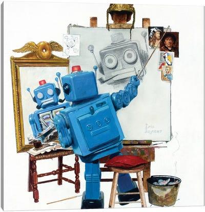 Selfie Canvas Art Print