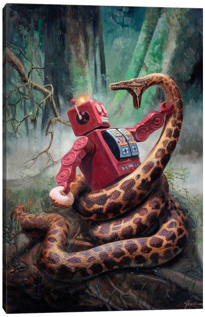 Snakefight Canvas Art Print