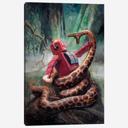 Snakefight Canvas Print #EJR21} by Eric Joyner Canvas Art Print