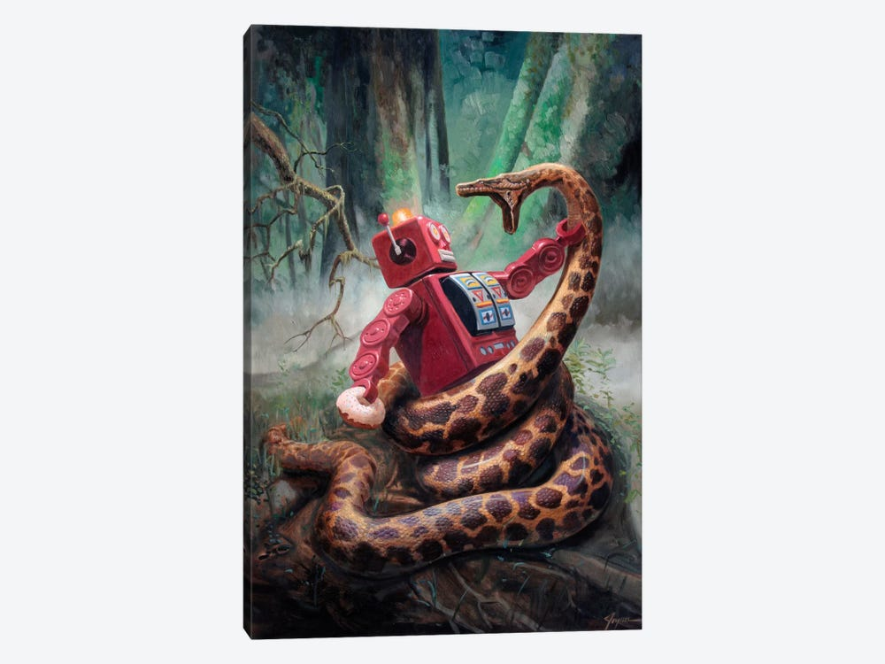 Snakefight by Eric Joyner 1-piece Canvas Artwork