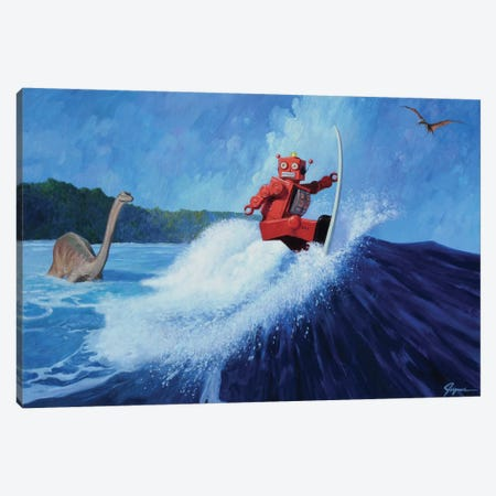 Surfer Joe Canvas Print #EJR22} by Eric Joyner Art Print