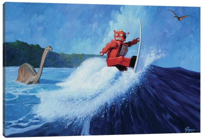 Surfer Joe Canvas Art Print