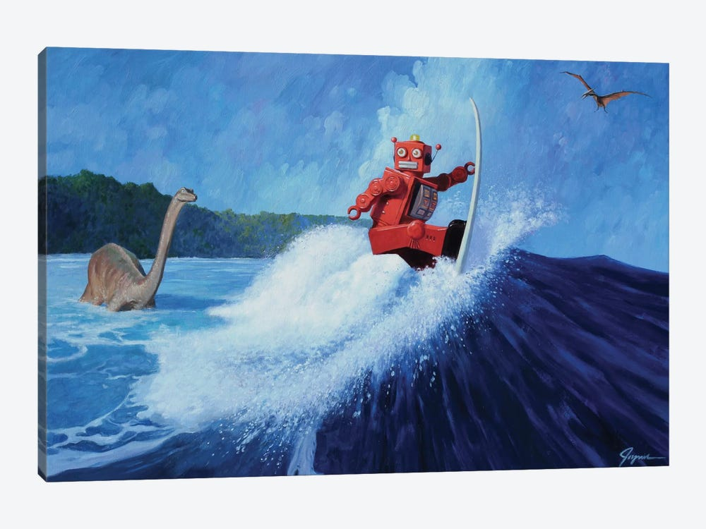 Surfer Joe by Eric Joyner 1-piece Canvas Art Print