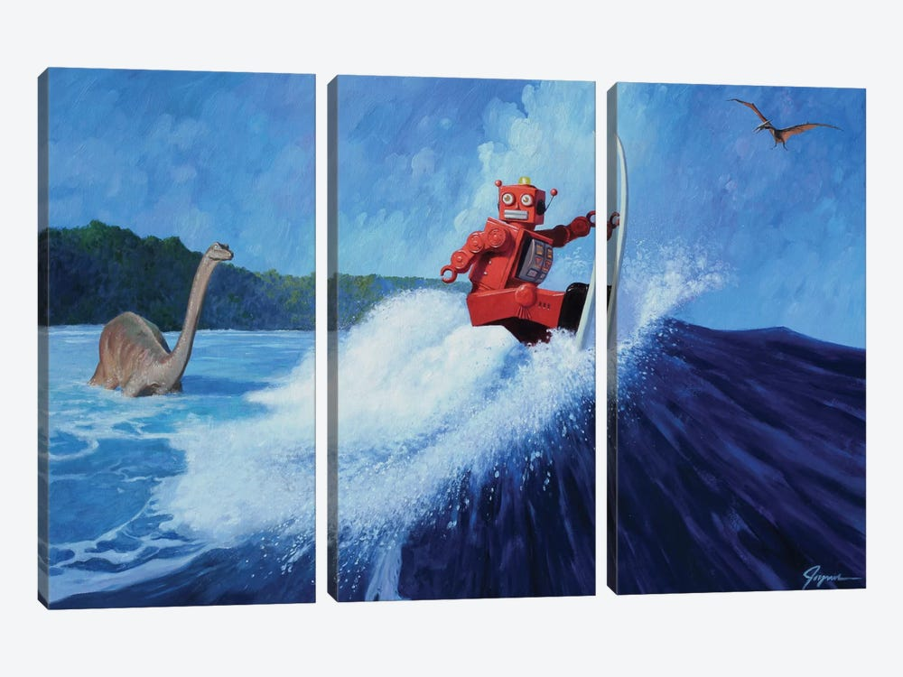 Surfer Joe by Eric Joyner 3-piece Canvas Art Print
