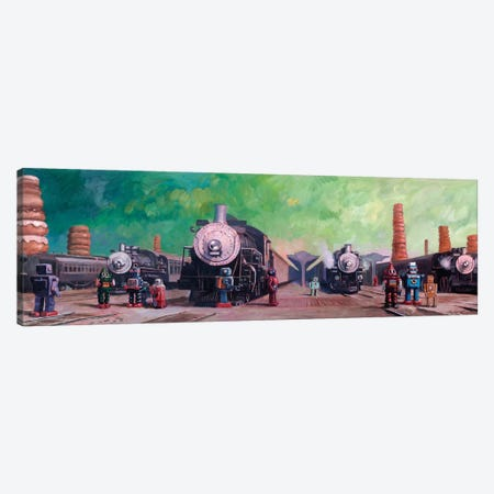 Trainyard Canvas Print #EJR24} by Eric Joyner Canvas Art