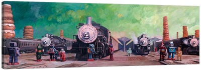 Trainyard Canvas Art Print