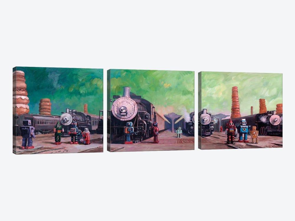 Trainyard by Eric Joyner 3-piece Canvas Print