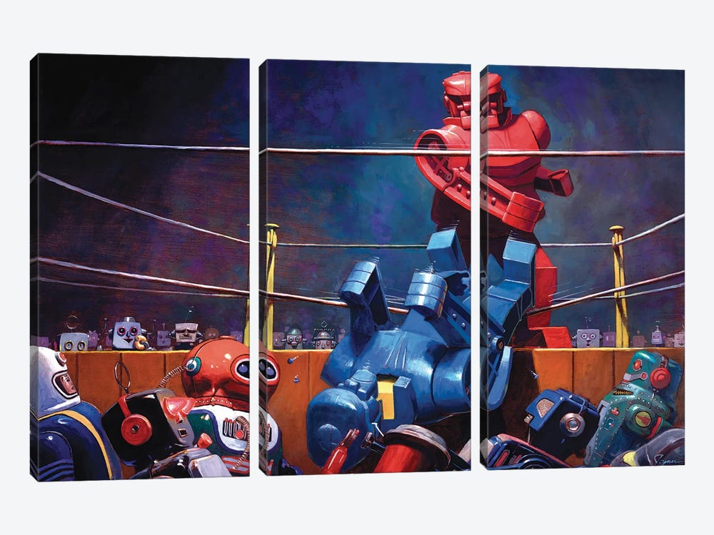 Roc Sock by Eric Joyner 3-piece Canvas Wall Art