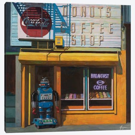 Blue Zeroid Canvas Print #EJR2} by Eric Joyner Canvas Artwork