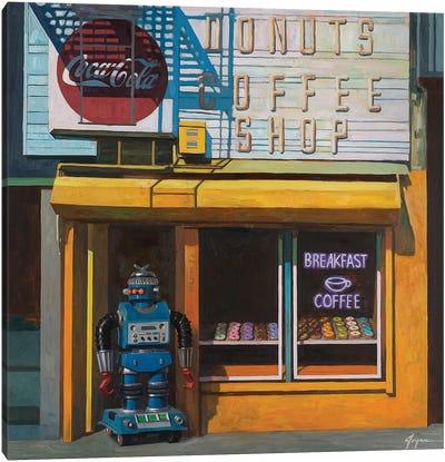 Blue Zeroid Canvas Art Print