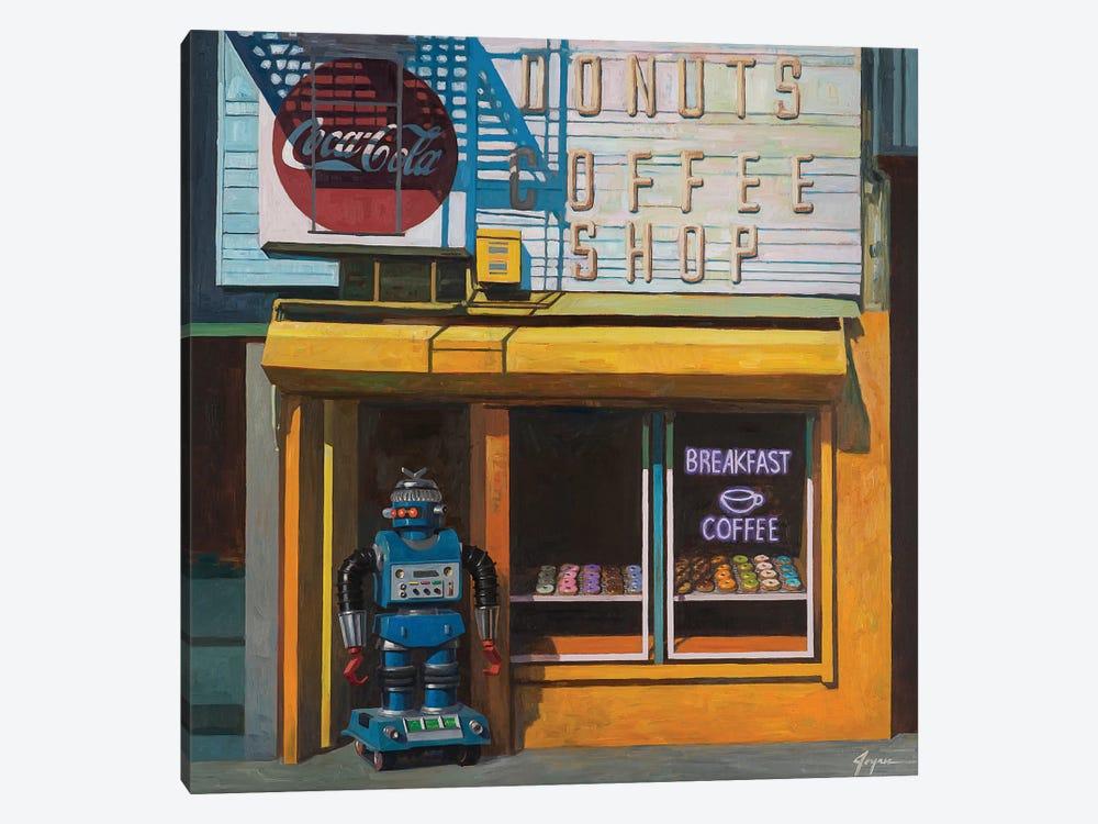 Blue Zeroid by Eric Joyner 1-piece Canvas Art Print